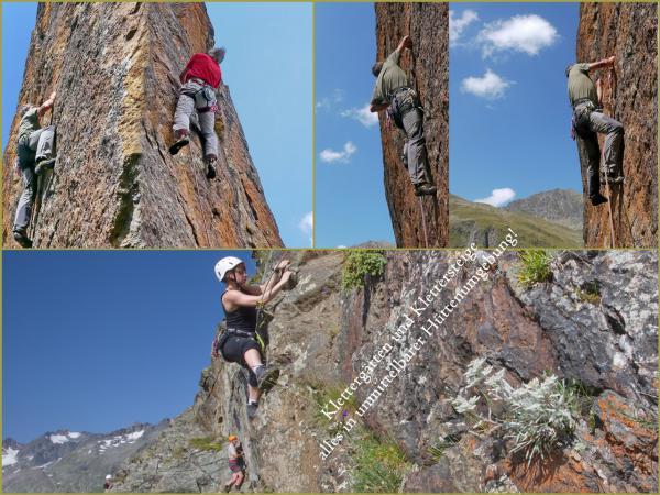 Klettergärten in unmittelbarer Hüttenumgebung!