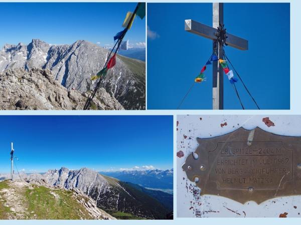 Dem Errichter des Gipfelkreuzes Bergführer Helmut Matzka ein herzlichen Dankeschön
