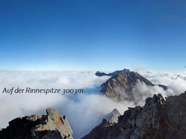 Auf der Rinnenspitze 3003m