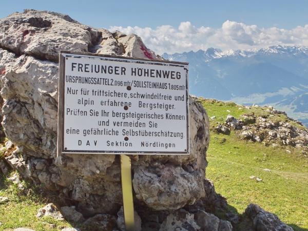 Der Fryungen-Hohenweg ist äußerst anspruchsvoll- die Warnung sollte ernst genommen werden!
