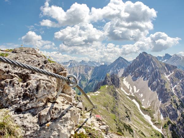 Nahe der Nördlingerhütte mit Blick auf die Freyungen