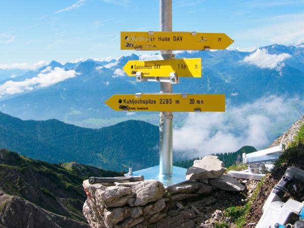 Auf der Kuhljochscharte am Freyungen Höhenweg!