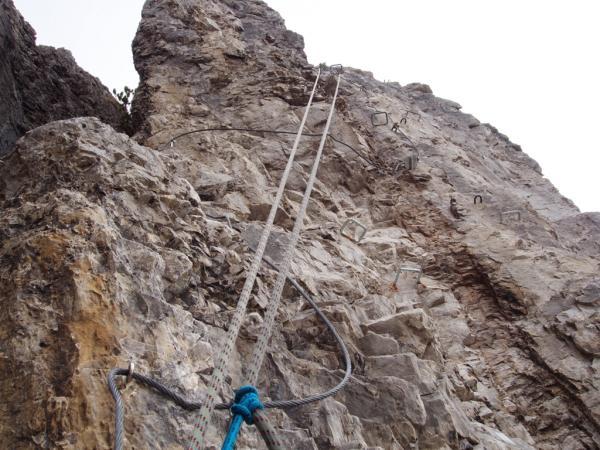 Dazu musste das Seil zur Gänze demontiert werden!