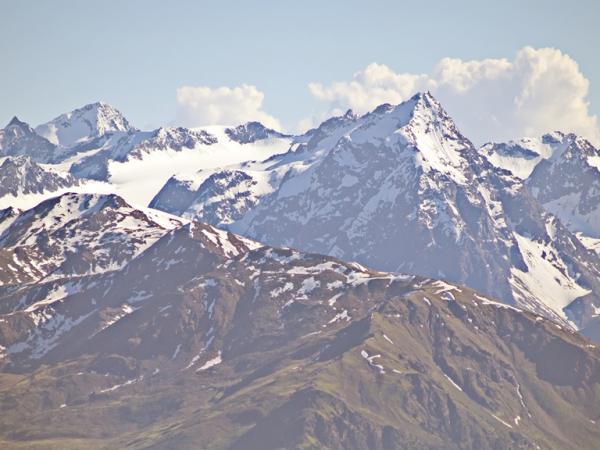 Lüsenser Fernerkogel, Schrandele und Schrankogel in den Alpeiner Bergen im Stubaital