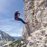 Abseilen im Klettergarten
