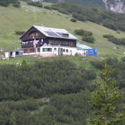 Der erste Blick zum Solsteinhaus auf dem Rückweg